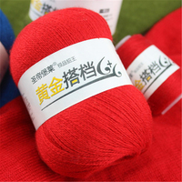 300g Mink Cashmere Hilos Crochet Yarn For Hand Knitting Worsted Soft Baby Yarn Eco Friendly Sweaters Wool Skein Laine A Tricoter