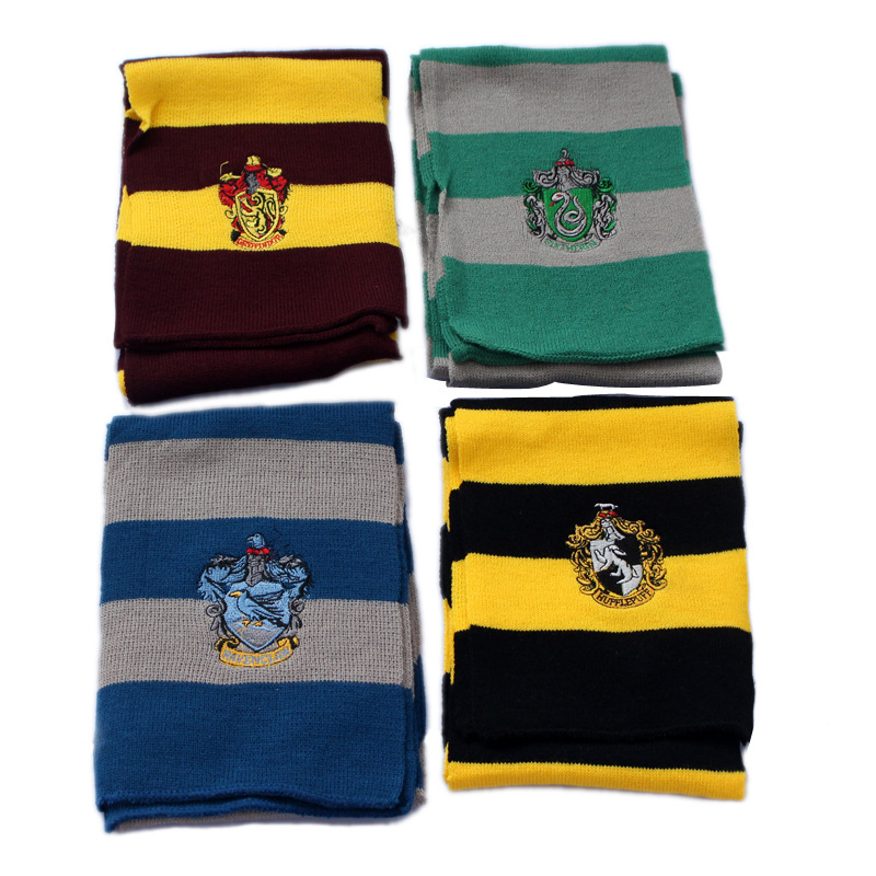 Cosplay-Harry-Potter-Scarf-Scarves-Gryffindor-Slytherin-Hufflepuff-Ravenclaw-Pendant-Necklace-for-Kids-Gift-Dropshipping(2)