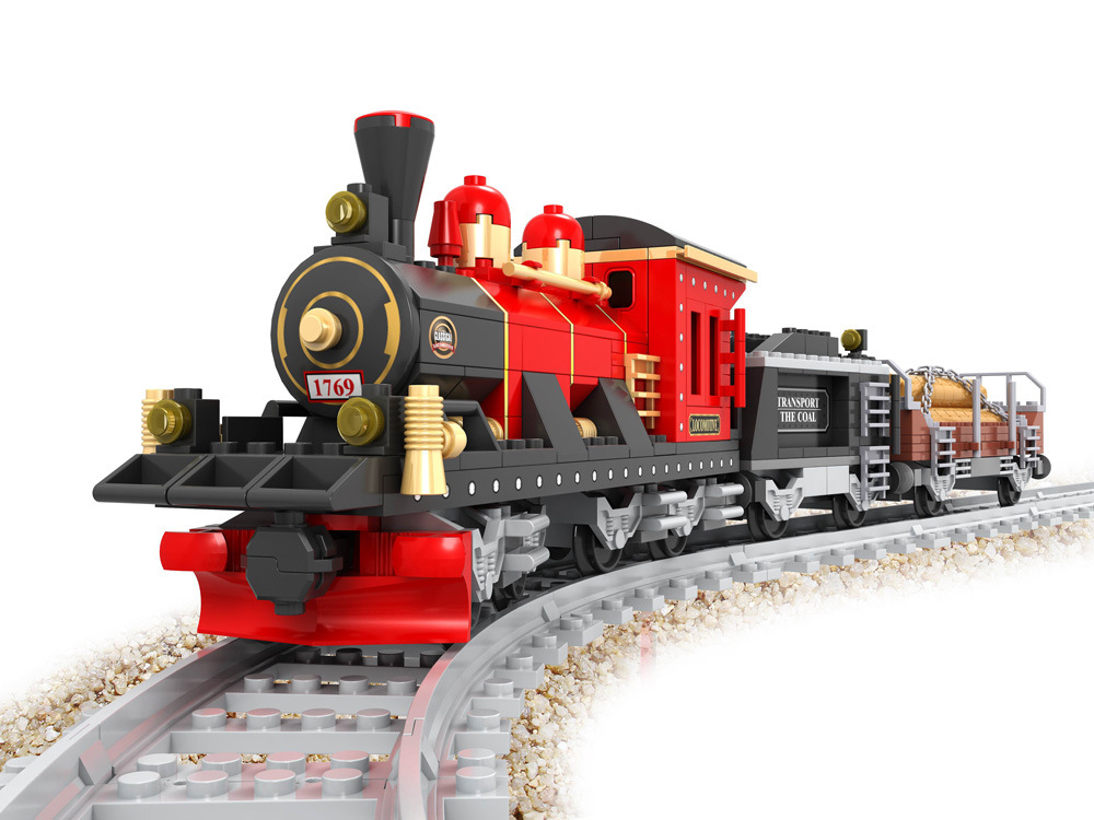 Train Set Building Blocks  Early Educational DIY Brick Toys For Children Compatible with Legoings juguetes china brand l0090 educational toys for children diy building blocks 00090 compatible with lego