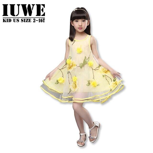 89f84a50e Girl Dress Summer 2016 Dresses for Girl of 7 Years Sleeveless Small ...