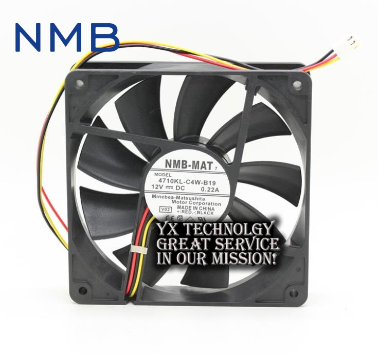 New and Origina 4710KL-C4W-B19 12025 12cm 12V 0.22A plasma TV fan for NMB 120*120*25mm for delta 12cm 1225 12025 120 120 25mm fan ball bearing fan dc12v computer case fan