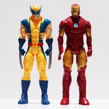 Marvel Super Hero X-men Wolverine Iron Man PVC Action Figure Collectible Toy 12″30CM Retail Free Shipping