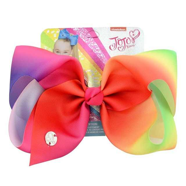 """8 """"Большой фирма JOJO Bow W зажим для волос для девочек Дети ручной работы Siwa Единорог коллекция Коралл цветная Шпилька волос лук аксессуары для волос"""