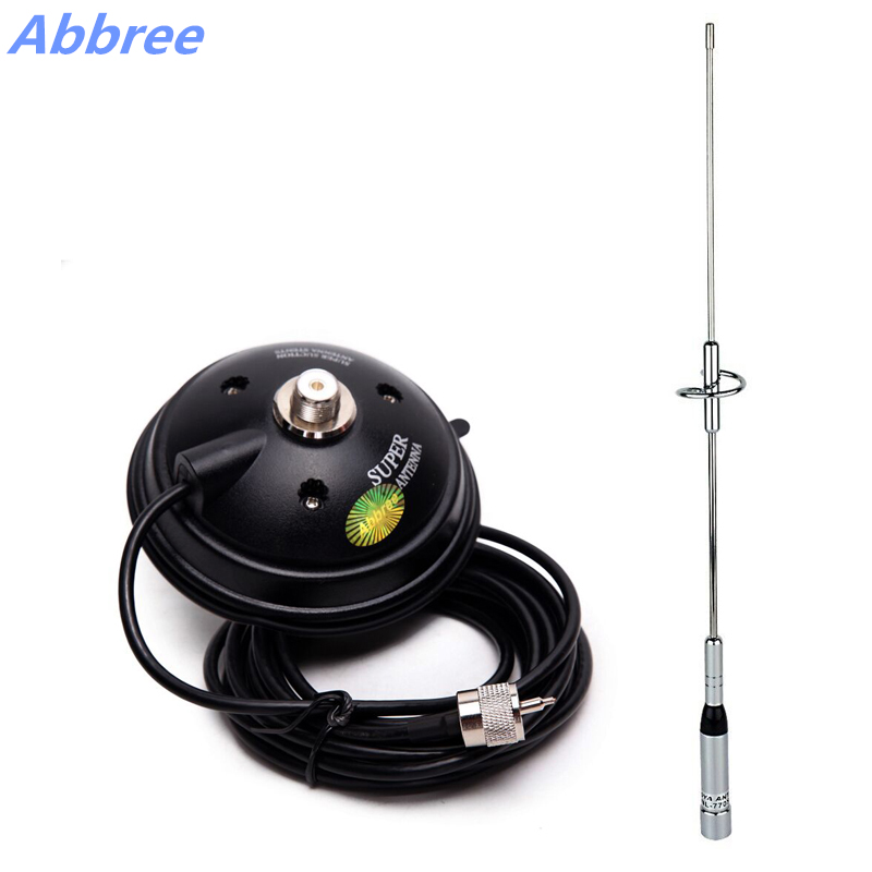 NL-770S Dual Band UHF/VHF 144/430 MHz 150 W Antenne avec Support Magnétique (base dia: 9 cm/11.5 cm/12 cm) pour Mobile Radio Talkie Walkie