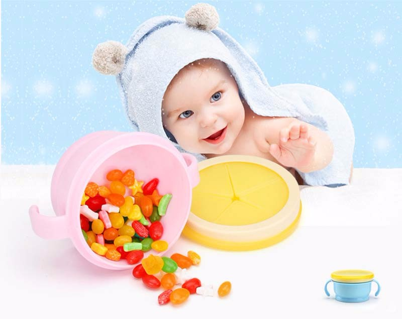 Kindergeschirr 2019 Mode 250 Ml Baby Japan Material Anti-spill Doppel Griff Cookies Lagerung Boxen Schöne Kinder Snack Cookie Jar Snack Tasse Schüssel Mutter & Kinder