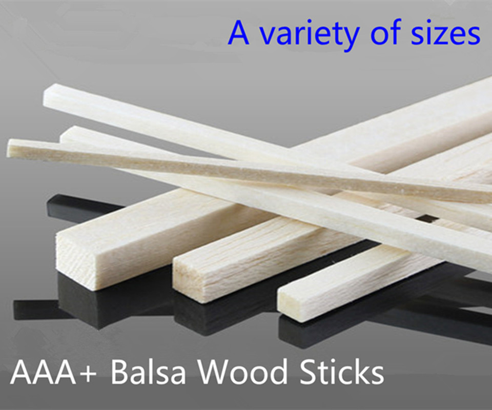 Andralyn 300mm long 2~4mm wideth 50 pieces/lot AAA+ Balsa Wood Sticks Strips for airplane/boat model Fishing DIY free shipping