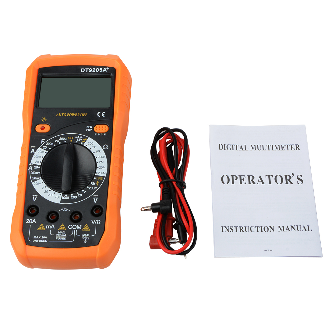 Multimeter DT9205A AC LCD Display Professional Electric Handheld Tester Meter Digital Multimeter Multimetro Ammeter Multitester handheld large screen multimeter lcd display accurate detection digital multimeter victor 88b
