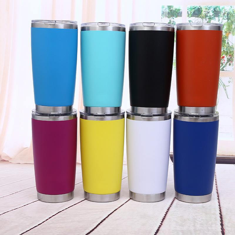Wholesale 20oz Stainless Steel Skinny Tumbler Beer Cups Wine Tumblers Mugs Double Wall Vacuum Insulated Cup