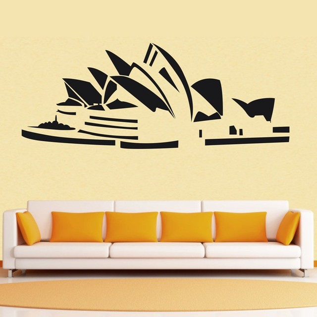 Free shiping sydney opera house Wall Decor Removable Vinyl home ...