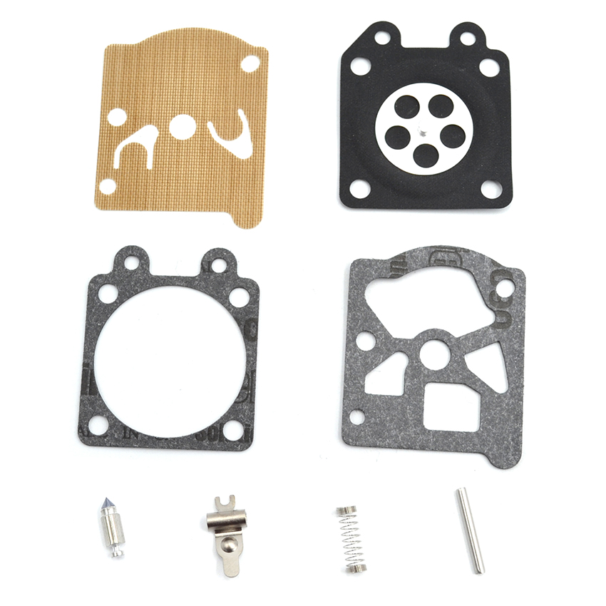 10SET Carburetor Carb Repair Diaphragm Kit For Partner 350 351 Chainsaw Engine Parts black throttle base cover carburetor for honda trx350 atv carburetor trx 350 rancher 350es fe fmte tm carb 2000 2006