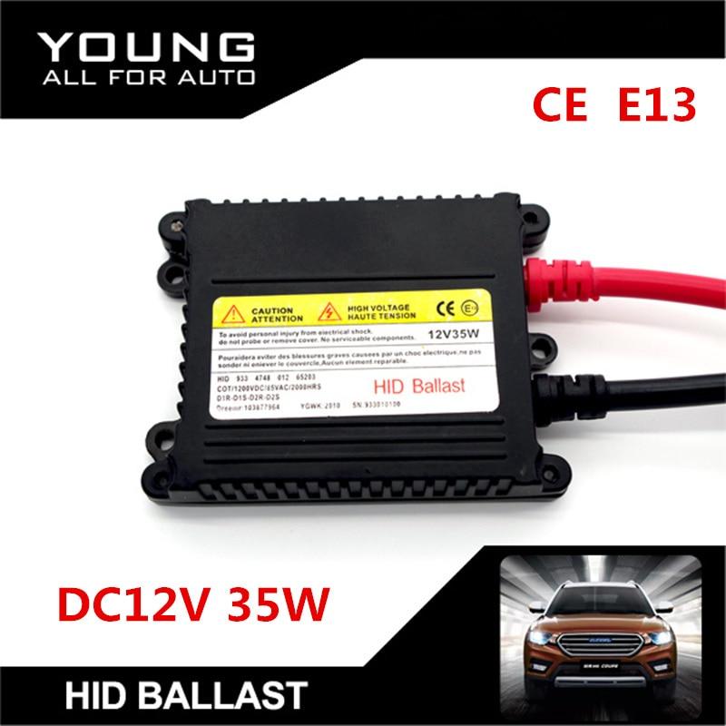 цены  1Pcs Slim DC12V 35W Xenon HID Replacement Electronic Digital Conversion Ballast Kit For H1 H4 H7 H11 9005 9006 D1R D1S D2R D2S