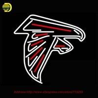 Atlanta Falcons NFL Sinal de Néon Neon Lâmpada Sala de Recreação Sinal de Néon Tubo De Vidro Artesanato Presentes Affiche interior Neon Arcada 24x20