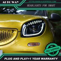 case for Smart LED headlights headlamps Hernia lamp accessory products case for Benz Smart LED headlights Smart Car styling