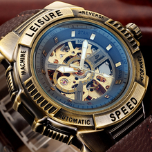 2018 Steampunk Big Dial Military Skeleton Watches Male Automatic Mechanical Wrist Watches Relogio Masculino Men Luxury Brand