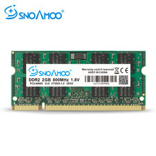 SNOAMOO Carneiros Laptop DDR2 PC2-5300S 2 gb 667 mhz 800 mhz PC2-6400S 200Pin CL5 CL6 1.8 v 2Rx8 SO-DIMM Computador garantia de memória