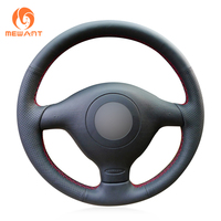 Black Leather Steering Wheel Cover For Volkswagen VW Golf 4 Mk4