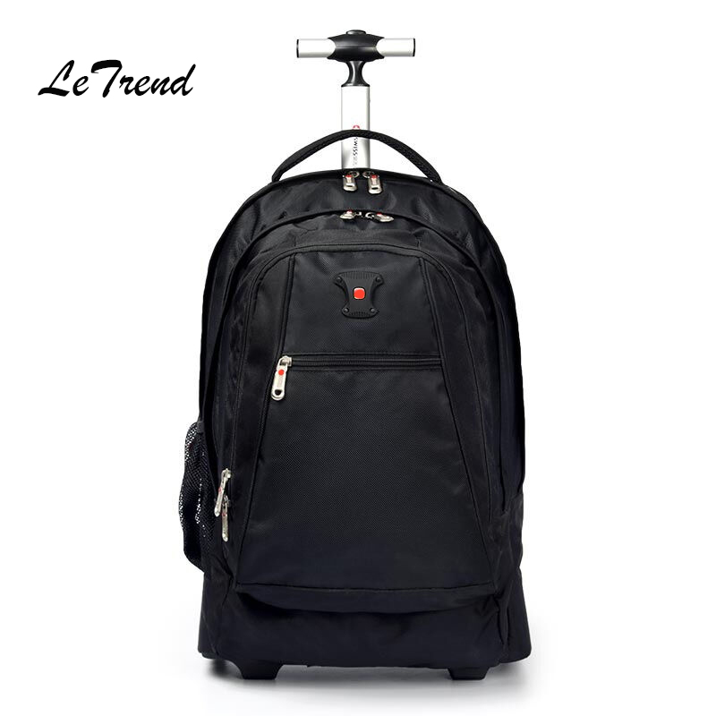 Letrend Men Business Travel Duffle 20 inch Carry On Suitcase Wheels  Computer Backpack Rolling Luggage Casters Trolley School Bag -  aliexpress.com - imall. ... b8576c7679467