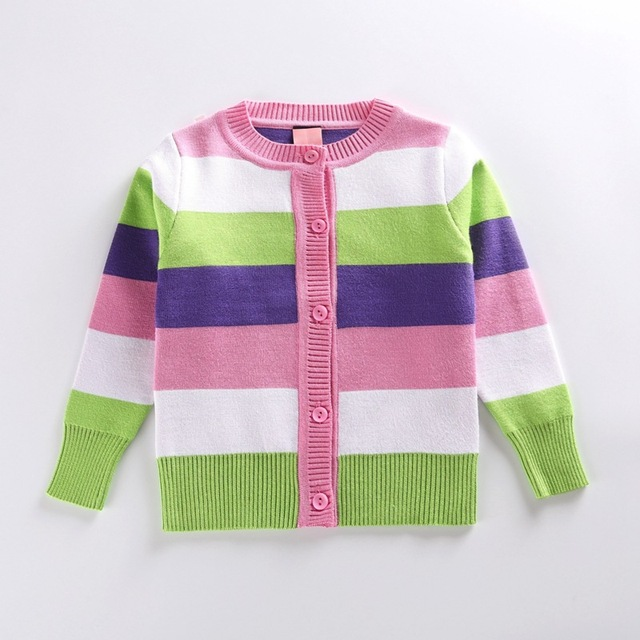 kids girls sweaters 3,7 years kids girls sweaters striped cardigans for  girls autumn spring
