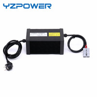 YZPOWER 29.2V 25A 24A 23A 22A 21A Lifepo4 Battery Charger for 24V Ebike E bike Battery with 4 Cooling Fan
