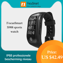 FocusSmart  S908 Bracelet GPS IP68 professional waterproof Sport Modes watchsmart Heart Rate Tracker Smart Band For IOS Andriod