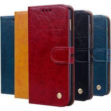 Fashion Single Color Case For Huawei P Smart Plus Z Y5II Y3 Y5 Y6 Pro 2017 Y7 Prime 2018 Y9 2019 Wallet Stand Vintage Cover D17F все цены