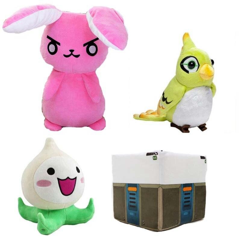 20-50CM Game Overwatches The Last Bastion OW Plush Toys OW Bird Red Rabbit Ganymede Solf Plush Pillow Dolls Toys brithdays Gifts 20cm game watch ow pachimari plush dolls stuffed toys