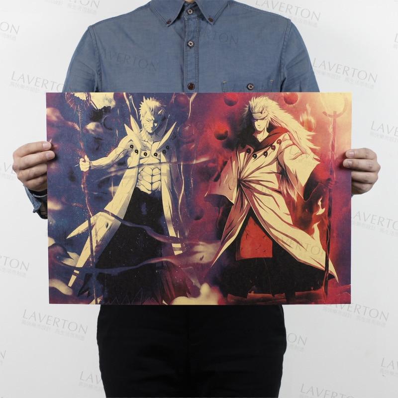 Free shipping,NARUTO B Style/classic Japanese Cartoon Comic /kraft paper/bar poster/Retro Poster/decorative painting 51x35.5cm