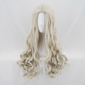 Image 4 - Alice in Wonderland 2 White Queen Cosplay Wig Blonde Wavy Long Synthetic Hair Heat Resistance Fiber Halloween Party Costume Wigs