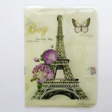 Eiffel Tower in Paris Passport Holder, PVC Leather 2D Thin Travel Passport Cover ID Card Holder Size:9.6*14cm Multiple Choice