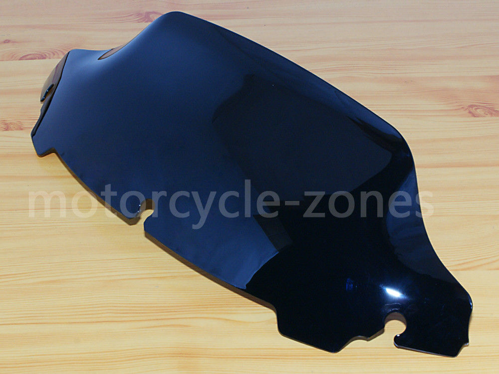 "4.5/"" Wave Upper Fairing Windshield Windscreen For Harley Touring 2014-2017 Black"