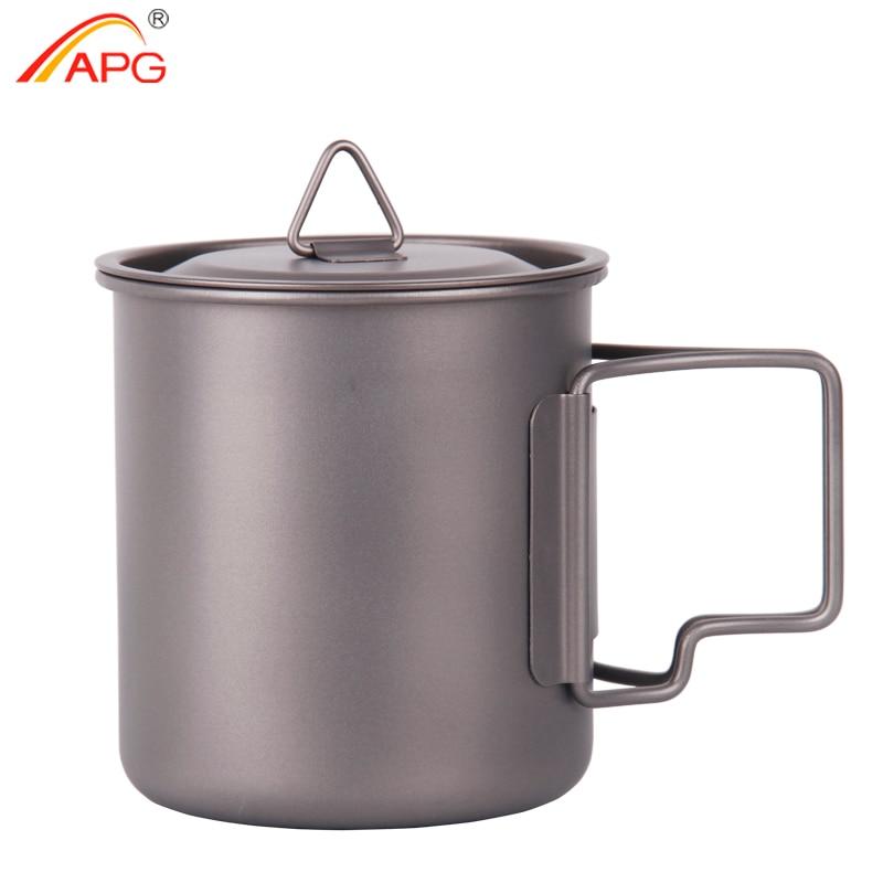 APG ultralight <font><b>titanium</b></font> <font><b>cup</b></font> and outdoor camping <font><b>titanium</b></font> cutlery enhancing the body resistance