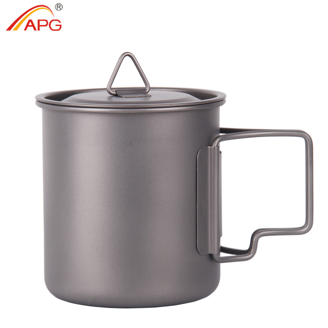 APG ultralight titanium cup and outdoor camping titanium cutlery enhancing the body resistance