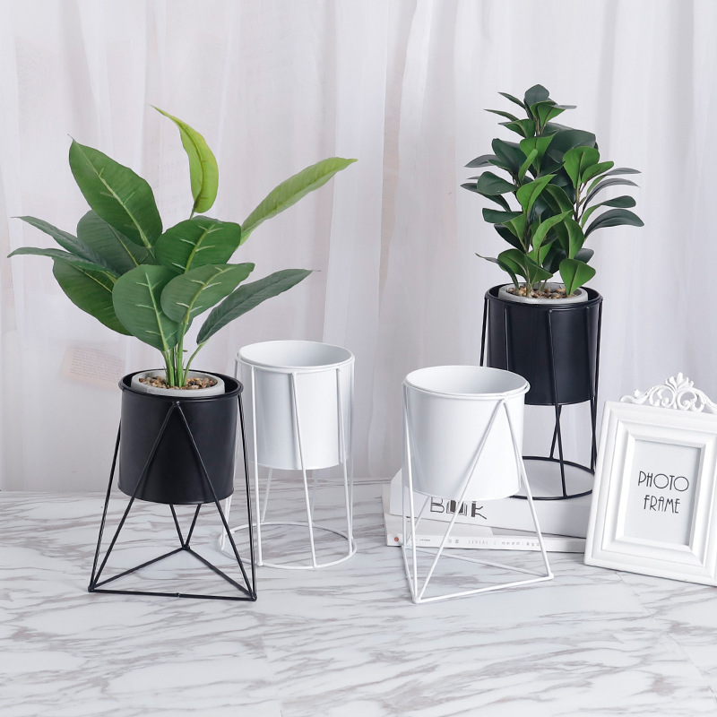 Modern Flower Stand Metal Geometric Vase Frame Fleshy