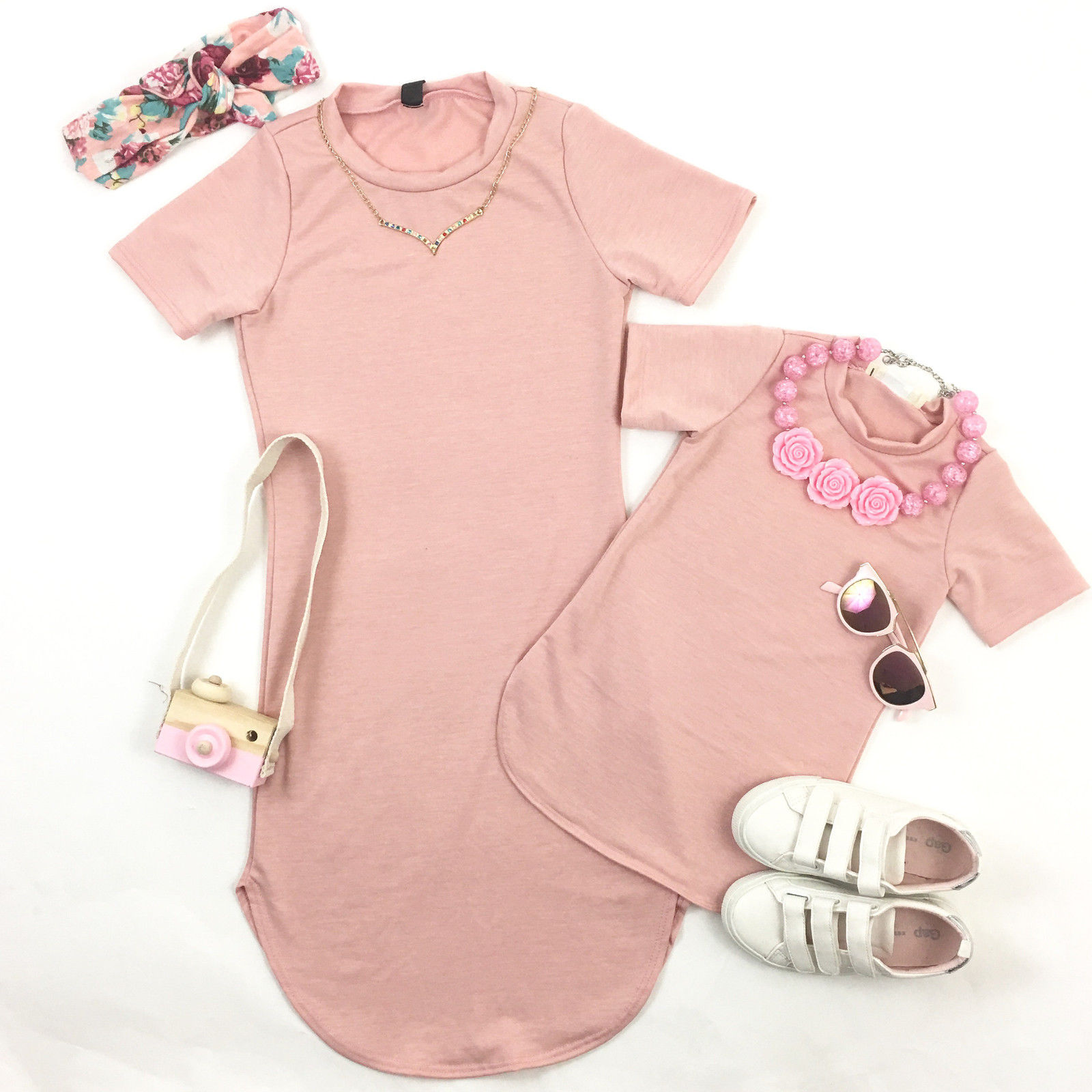 Mother-and-Daughter-Casual-Summer-Stripe-Dress-mommy-me-matching-set-outfits-2
