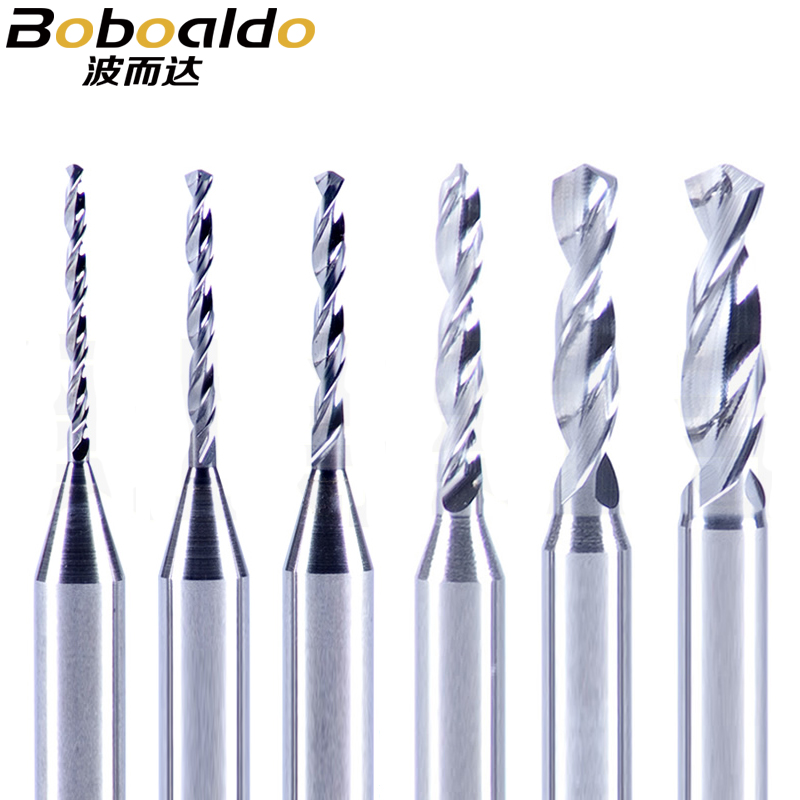 10pc 3.175mm Carbide Drill Bits Micro Engraving CNC PCB Endmill Making Hole Aluminum Wood Acrylic Plastic 0.2mm To 3.0mm
