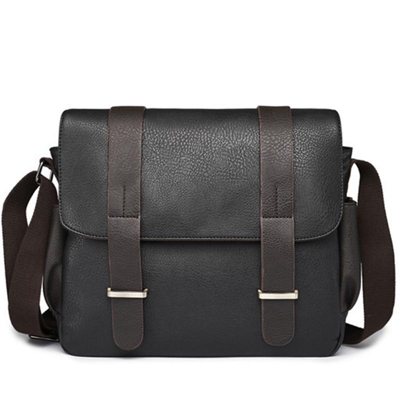 2018 Casual Men Shoulder Bag PU Leather Male Messenger Bags Laptop Handbags Large Capacity Men's Travel Bags Business Briefcases все цены