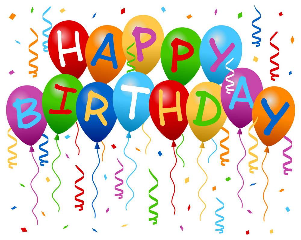 7x5FT Gelukkige Verjaardag Ballonnen Witte Muur Kleurrijke Linten ...
