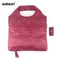 Navo marca shoping dobrável saco de compras reutilizável dobrável sacos de poliéster sacos de compras designer de moda sacola ocasional newarrive