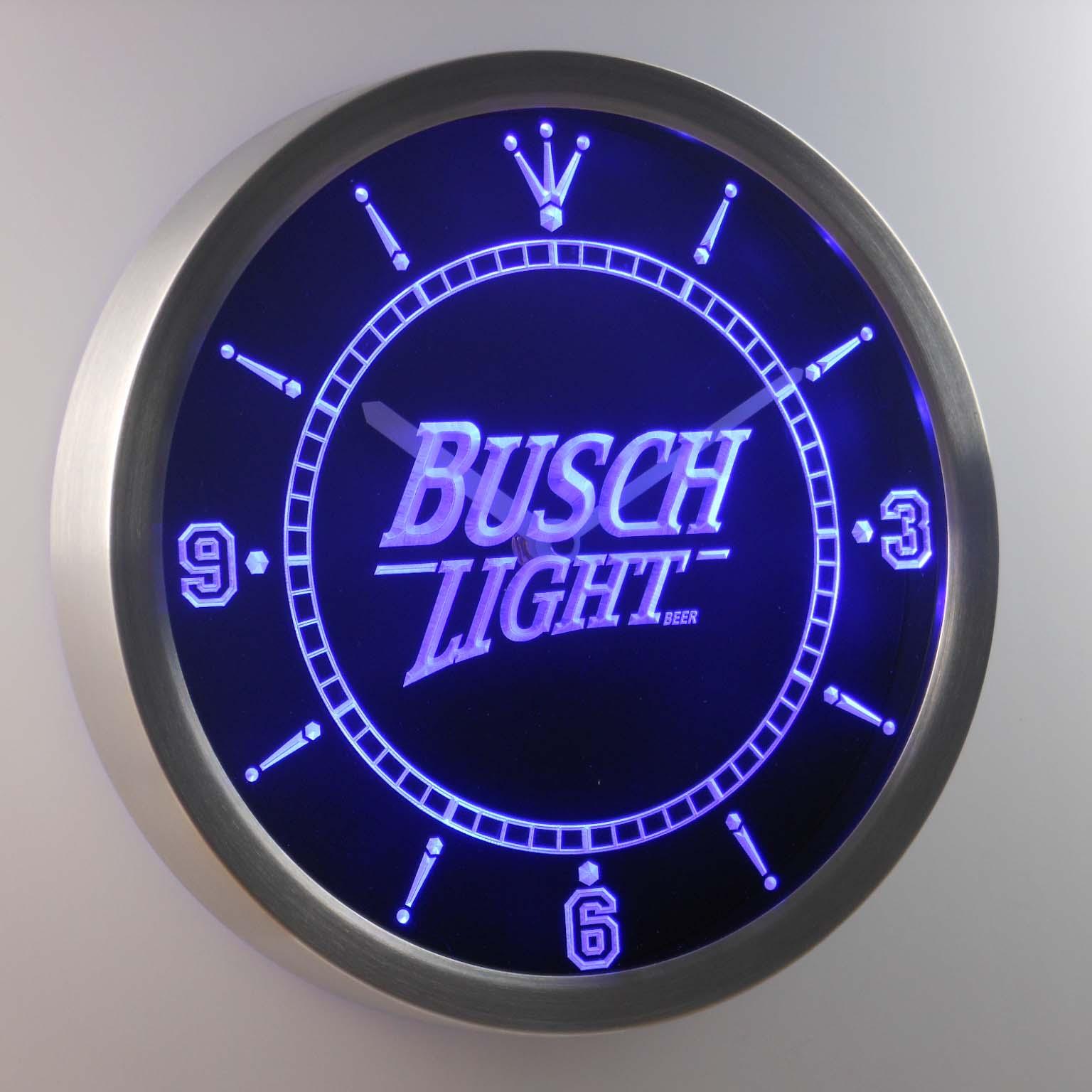 Nc0481 Busch Light Beer Neon Sign LED Wall Clock