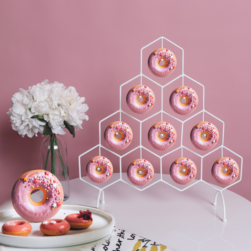 Beignet présentoir mariage enfants anniversaire maison fête vaisselle beignets décoration supports beignets Stands titulaire