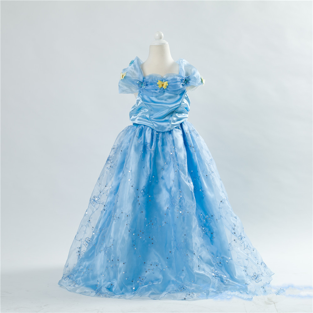 E babe Wholesale 2016 New Child s Fair Tale Girls Kids Cosplay Costume Cinderella Princess
