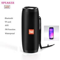 Portable Speaker Waterproof Bluetooth LED loud Speaker Wireless Mini Column Box Loudspeaker FM TF USB For cellphone Computer