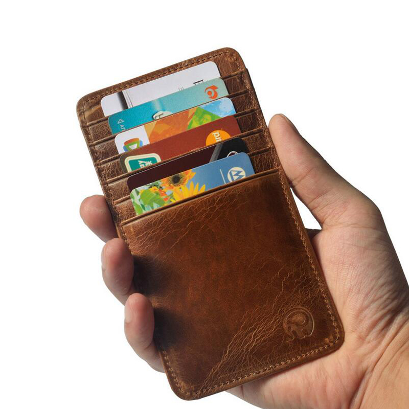 12 Card Fashion Unisex Credit Card Holder Oil Wax Leather