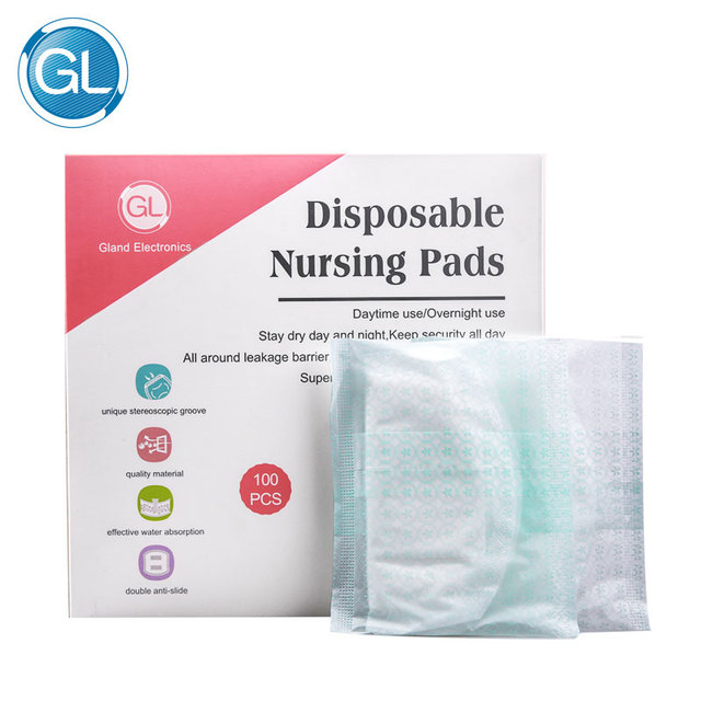 GL 100Pcs Super Soft Disposable Nursing Pads Breast Pads for Nursing Cotton Pads Maternity Breastfeeding Chest Inserts Organic