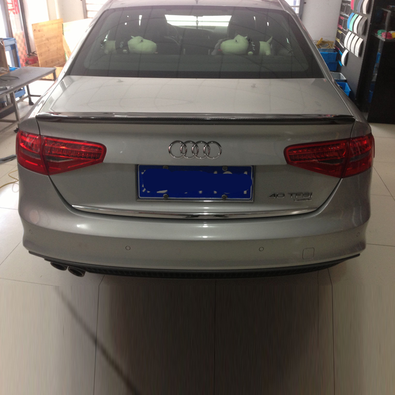 A4 Carbon Fiber Rear Trunk Boot Lip Spoiler Wing For Audi A4 B9 Sedan 2013 2015 CA Style