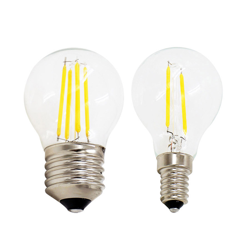 Retro Edison LED Filament Bulb G45 E27 E14 AC220V 2W 4W Cold White Warm White Antique Loft Style Lampada Bombilla Ampoule Light