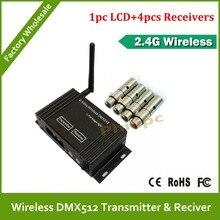 DHL Free Shipping 5pcs/lot Wholesale wireless DMX controller,DMX Wireless Controller,Wireless DMX512 Transmitter & Receiver