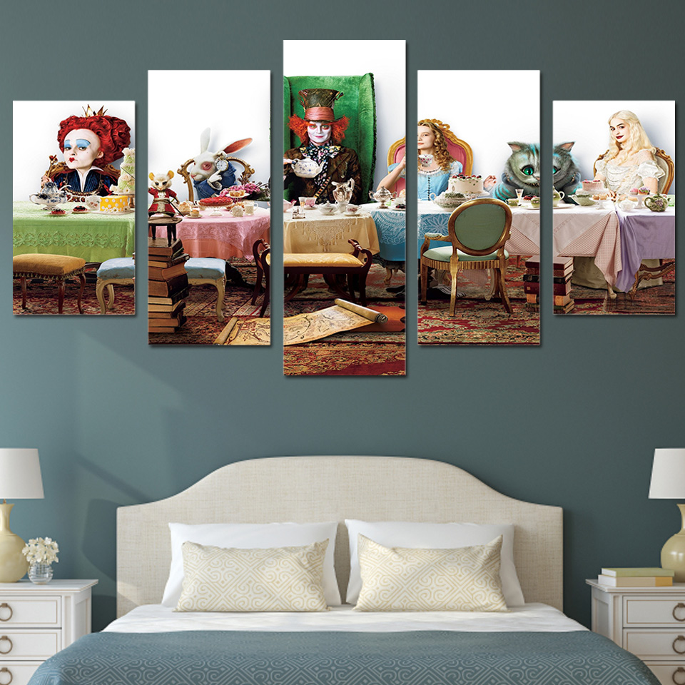 HD Printed alice in wonderland Group Painting Canvas Print room decor print poster picture canvas Free shippingny-539
