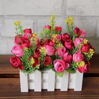 2017 Fir Wood Fence Pastoral FlowerPot Vertical Garden Pots Planters Supplies For Plastic Artificial Flower Glass