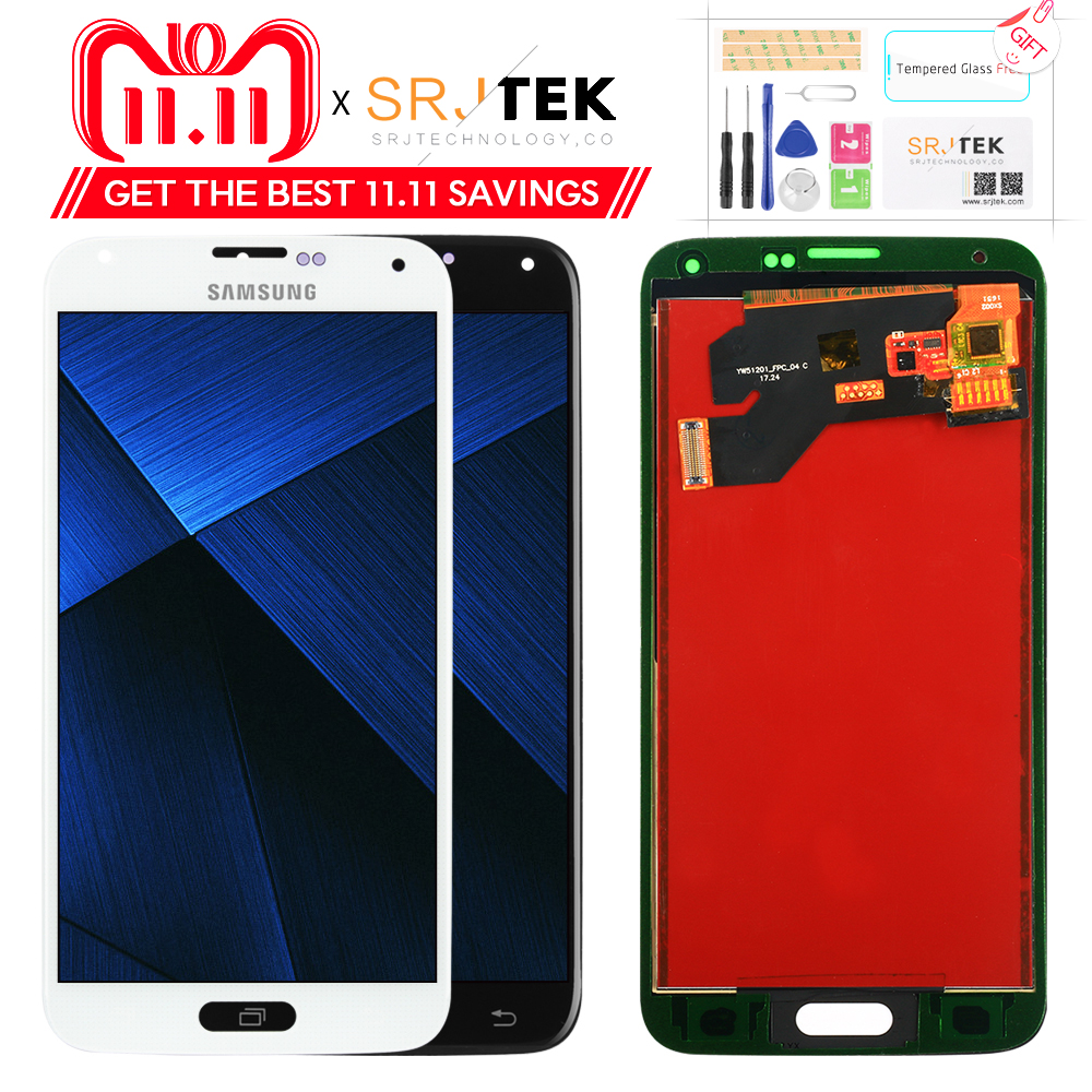 LCD For Samsung S5 G900F Display LCD Screen Touch Digitizer Assembly Compatible for Samsung Galaxy S5 G900 G900F LCD